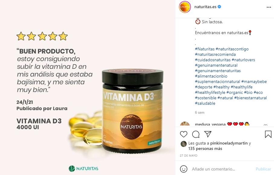 instagram naturitas publicacion