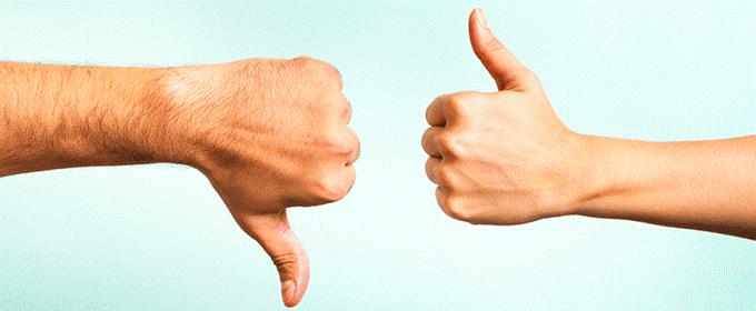 opiniones positivas y negativas