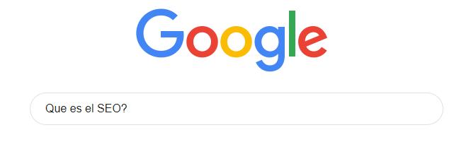 búsqueda en Google que es el SEO