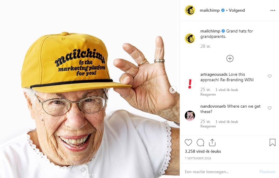 pagina de Instagram Mailchimp
