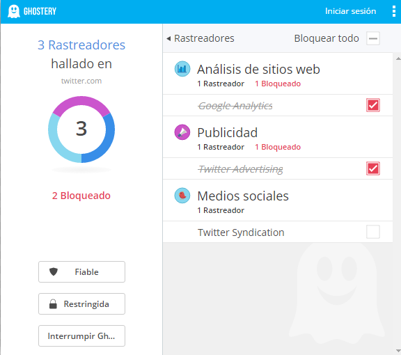 Ghostery ejemplo