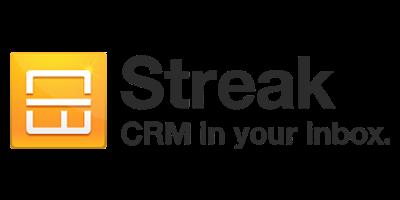 Logo Slogan de Streak CRM in your inbox