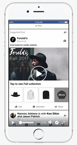 Anuncio de colección de facebook Feroldis