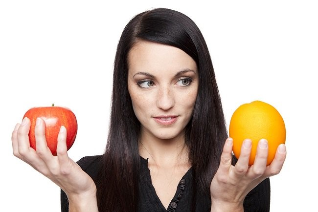 manzana y naranja