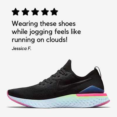 valoración positiva zapatillas deportivas