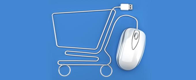carro de compra del comercio electrónico