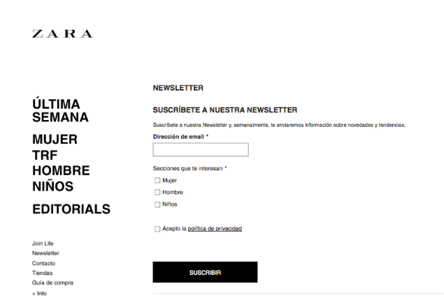 zara single opt-in