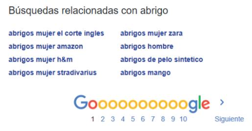 google palabras clave