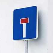 señal calle sin salida