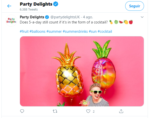 party delitghts twitter