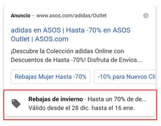google ad asos