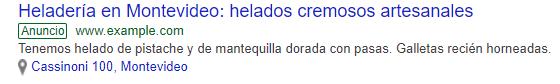google ad montevideo