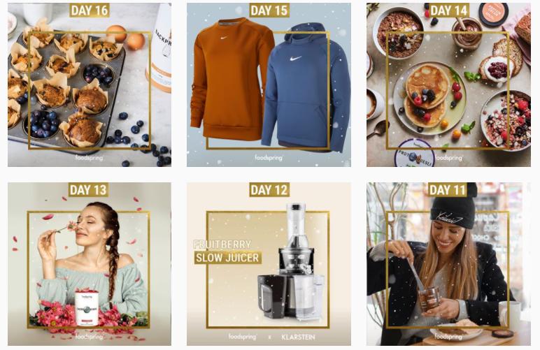calendario de adviento foodspring