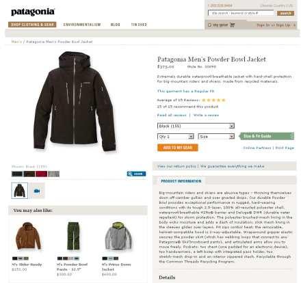 Produktinformationen auf Produktdetailseiten