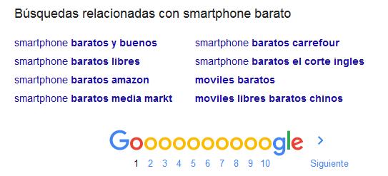Ejemplo autocompletar de Google
