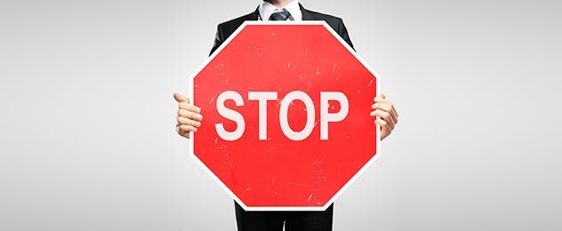 Reglamento General de Proteccion de Datos senal de stop